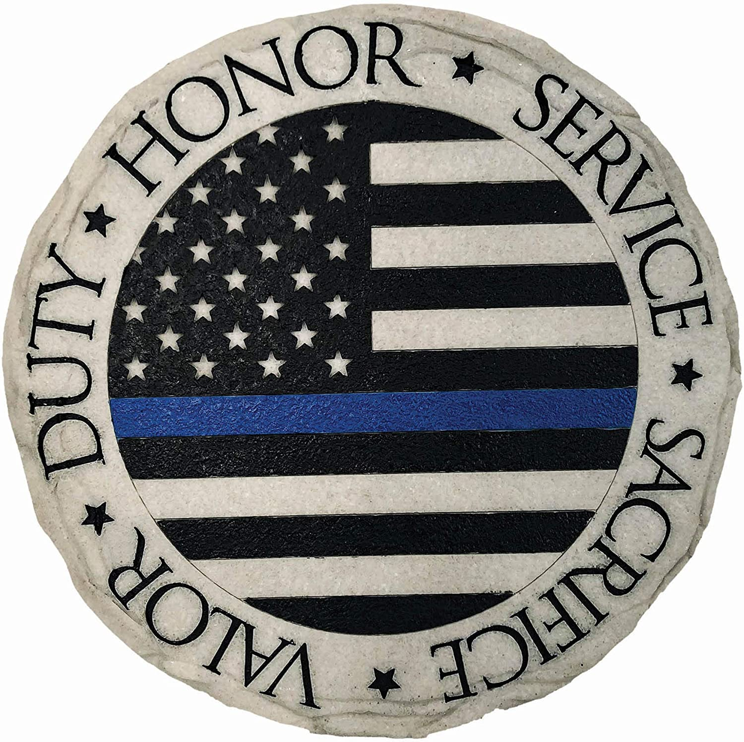 Spoontiques 13326 Police Blue Line Stepping Stone, Multicolor