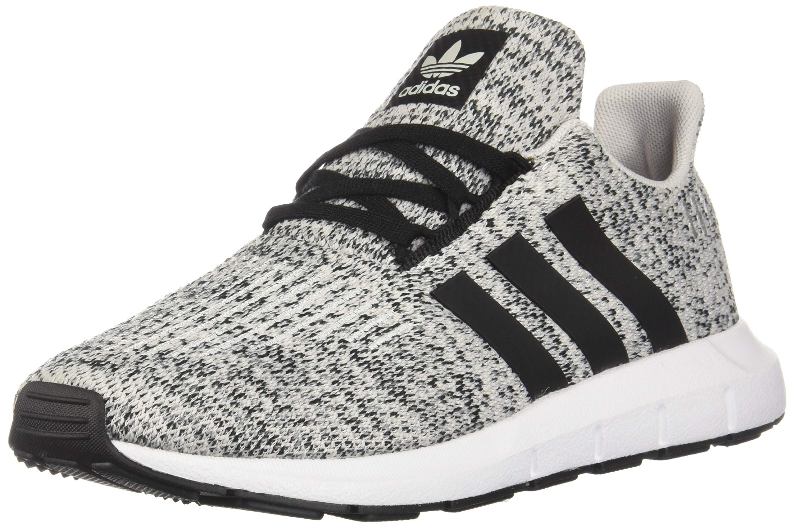 adidas Originals Kids Boy's Swift Run C (Little Kid) GreyBlack 1 M US Little Kid