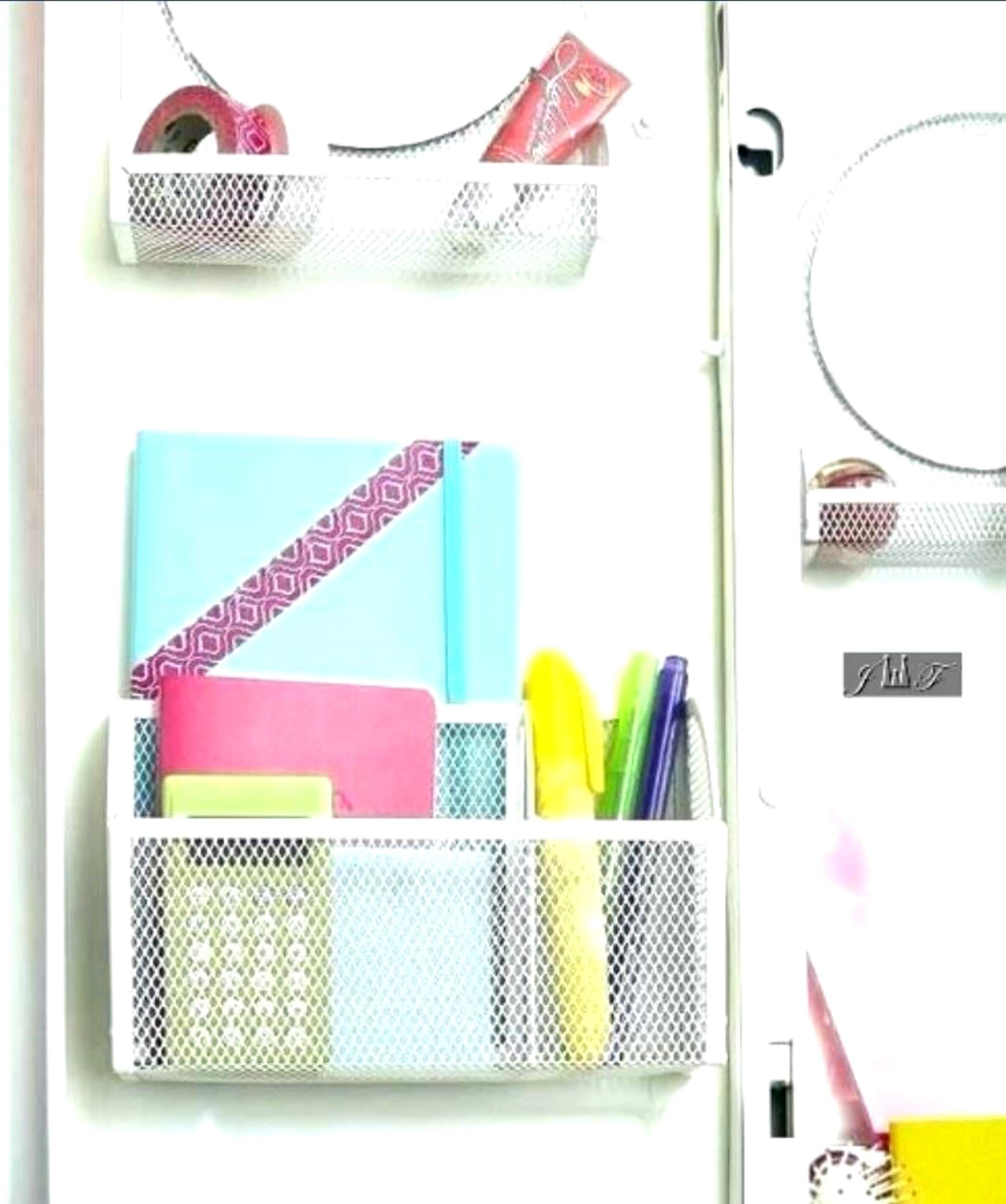 Wire Mesh Magnetic Locker Caddy, School-Office-Home Supply Organizer Desk Tray, Accessory. Keep Your Locker Organized. (Pink) by JEWELS FASHION (Image #3)