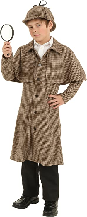 Amazon.com: Disfraz infantil de Sherlock Holmes, 2XL: Clothing