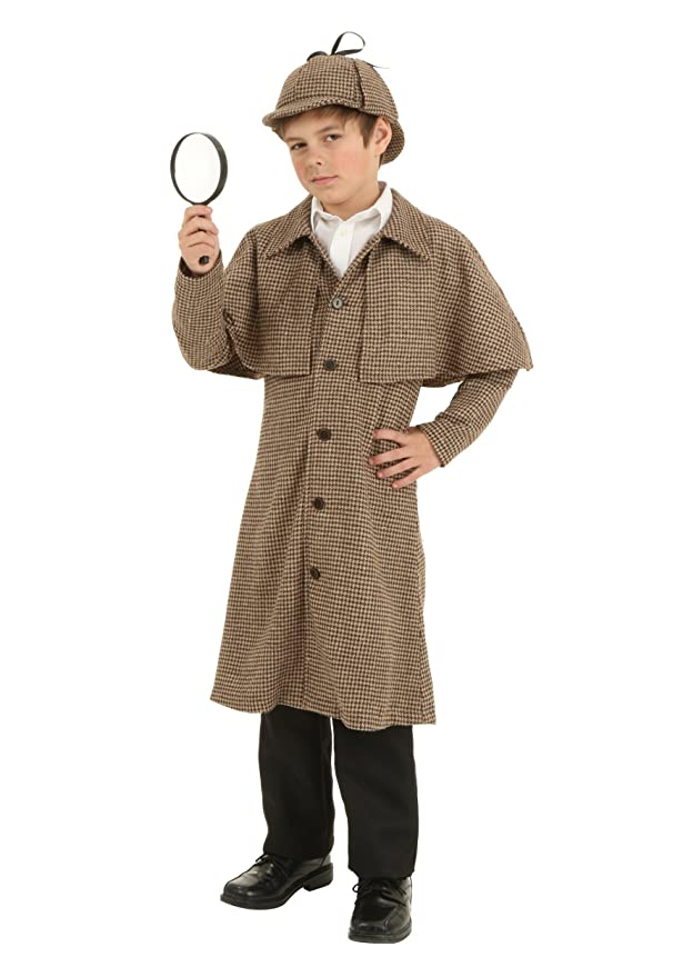 Victorian Men's Clothing, Fashion – 1840 to 1900 Fun Costumes boys Child Sherlock Holmes Costume $49.49 AT vintagedancer.com
