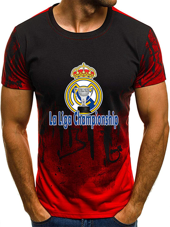 SweatMTK5 Fashion New Mens All-Match T-Shirt Real Madrid Logo Fan top