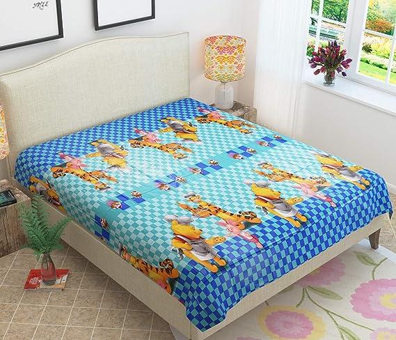StyleYourHome Waterproof PVC Plastic Baby Mattress Protector Bedsheet (6.5 x 6 Ft/72 x 80-inch, Double, Blue)