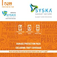 Syska Gadget Secure Damage Protection Plan for Smartphones between Rs. 4000 to Rs. 10000 with Syska Total Security