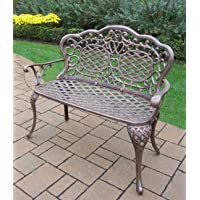 Oakland Living Royal Cast Aluminum Love Seat Settee Bench, Antique Bronze