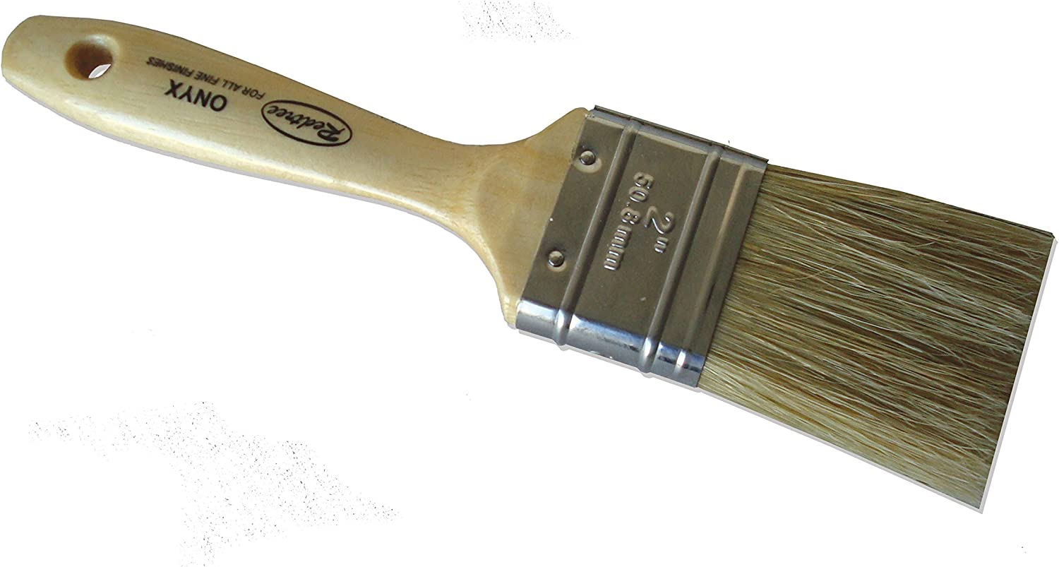 Redtree Industries 12033 Onyx Fine Finish Natural Bristle Paint Brush - 2