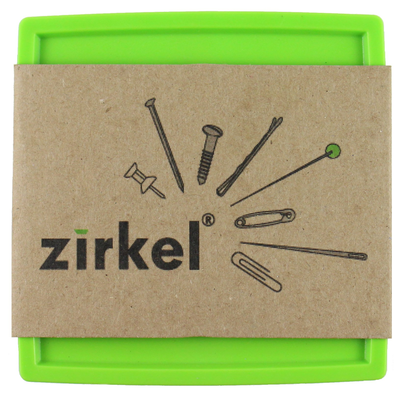 The Zirkel Organizer Magnetic Pin Cushion Lime Green by The Zirkel