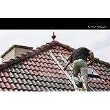 12KG Dachfarbe in Schwarz für Ziegel, Dachpfanne, Eternit TÜV-GEPRÜFT Dachsanierung Dachbeschichtung Dachziegel Farbe