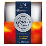 Glade Crafted Soy Candle, Air Freshener, Atmosphere Collection, No 4 Tempted, 4.2 oz
