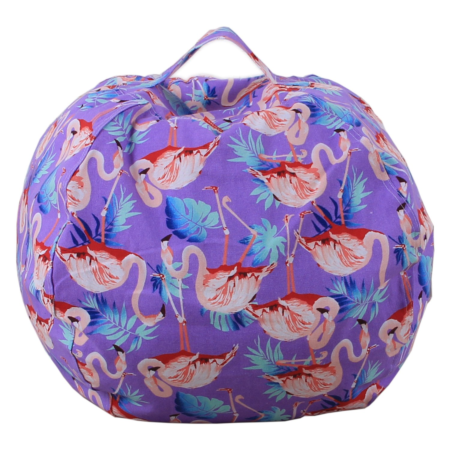 Dodd Kid's Stuff'n Sit - Stuffed Animals Storage Bean Bag Pouf -Available in 3 Sizes- Clean up the Room and Put Those Critters to Work for You,Flamingo (38 inch)