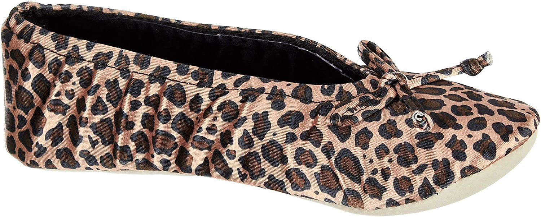 Satin Ballerina Slipper Cheetah Large