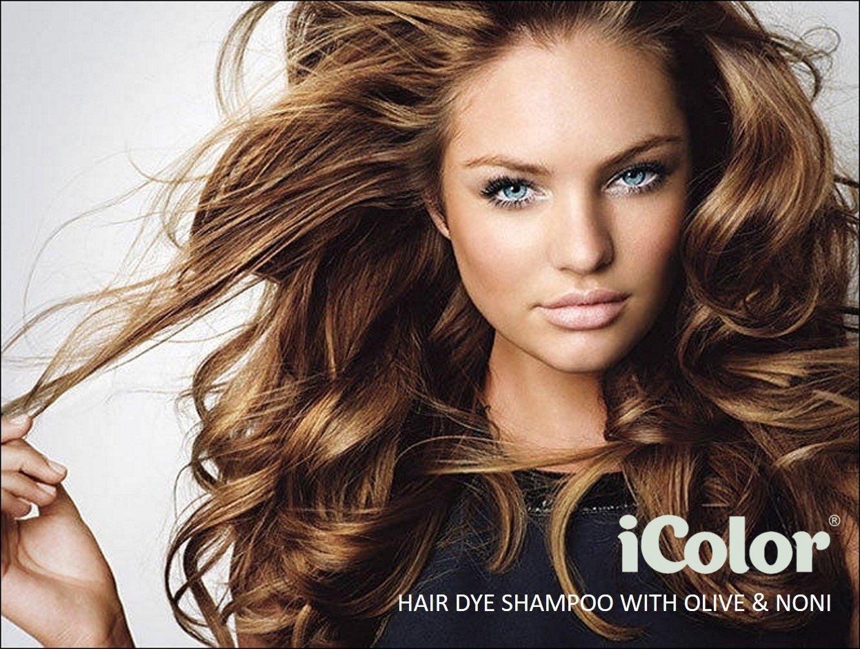 iColor Hair Dye Shampoo Light Brown 30ml per sachet (1.014 ounces) x 10 pcs in a box, shampoo-in hair color, dye, light brown hair-in 20-30 minutes by Great Lengths