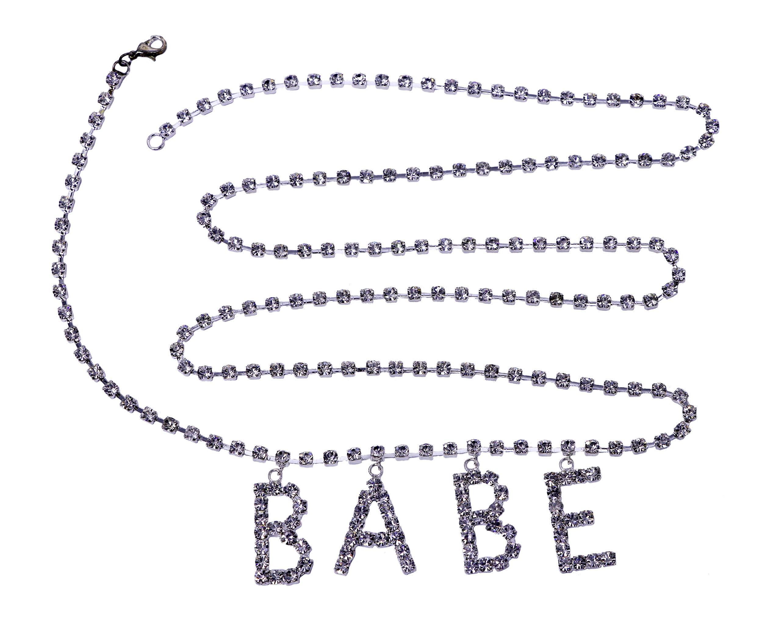 Arsimus Rhinestone Belly Waist Chain Belt (Babe)