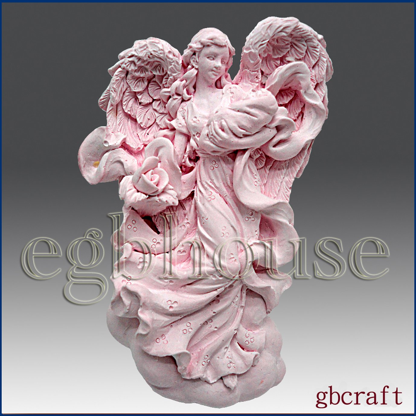 Mother Angel's Loving Wings *2 - Detail of High Relief Sculpture - Silicone Soap/polymer/clay/cold Porcelain Mold