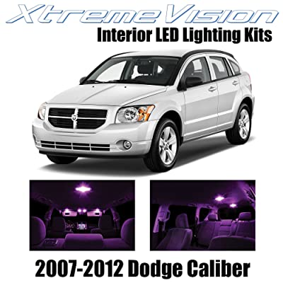 Xtremevision Interior LED for Dodge Caliber 2007-2012 (6 Pieces) Pink Interior LED Kit + Installation Tool: Automotive