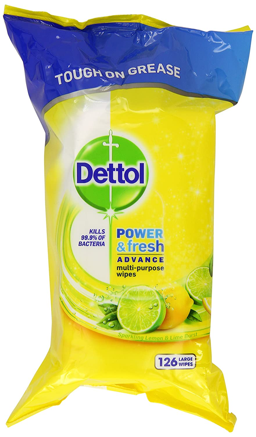 Dettol Power and Fresh Multi-Purpose Wipes, 378 Wipes, Pack of 3 x 126 Reckitt Benckiser