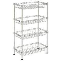 Deals on Happimess Aventura 31 in. 4-Tier Chrome Wire Basket Rack