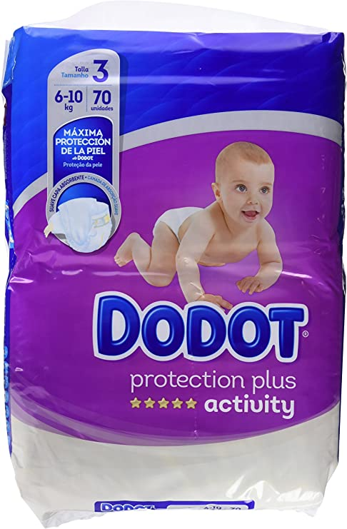 Dodot Activity Nappies For Babies Size 3 4 10 Kg Pack Of