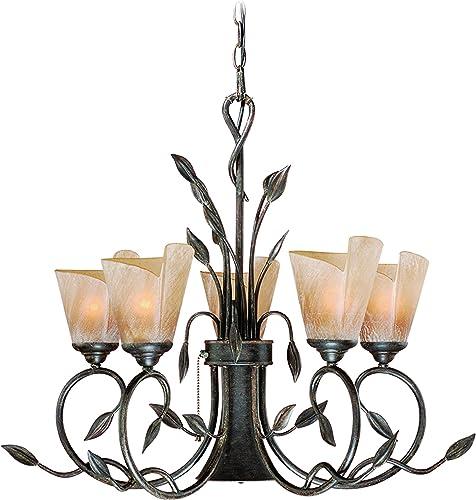 Capri 5,1 Light Bronze Rustic Vine Chandelier