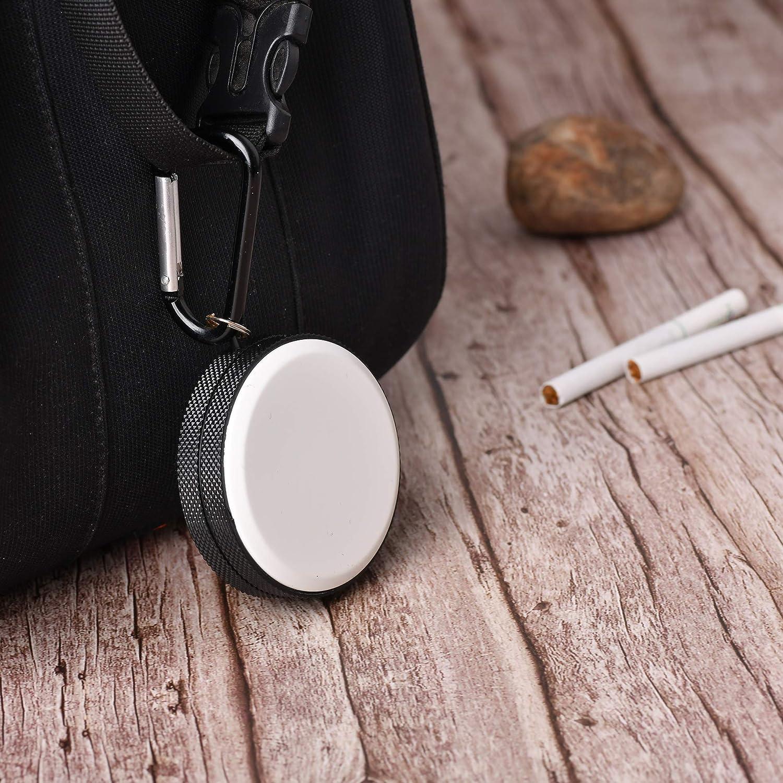 bo/îte Ronde Couleur: Blanc-Noir 1645-01 Mod Quantum Abacus Mini cendrier//Cendrier de Poche//Cendrier Portable en m/étal avec Porte-cl/és