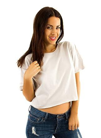 43e3cfac2b25f4 Double Zero Cropped Cotton T Shirt