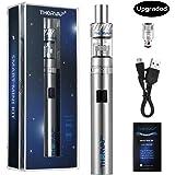 Sigaretta Elettronica, THORVAP® 1500 mAh Sub Ohm Vaporizzatore Kit, Easy Top Refill Atomizzatore Capacità 2ml, TF2 Mini 0,5 ohm OCC Resistenza, Mini 30W Batteria. NO Liquidi, No Nicotina ( argento)