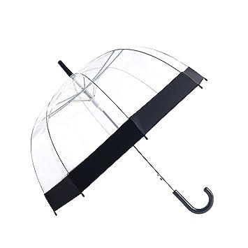 rainbrace burbuja transparente paraguas Auto abierto versión actualizada con reforzado fibergrass costillas, Transparente claro cúpula forma para las ...