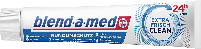 Blend-a-med Rundumschutz Extra Frisch Clean Zahnpasta 4x75ml um 2,13€