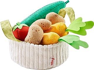 HABA 304230 - Cestino per Verdure, Accessorio per Negozi e Cucina per Bambini, cetrioli, pomodori, Carote e Patate in Tessuto, Giocattoli da 3 Anni in su