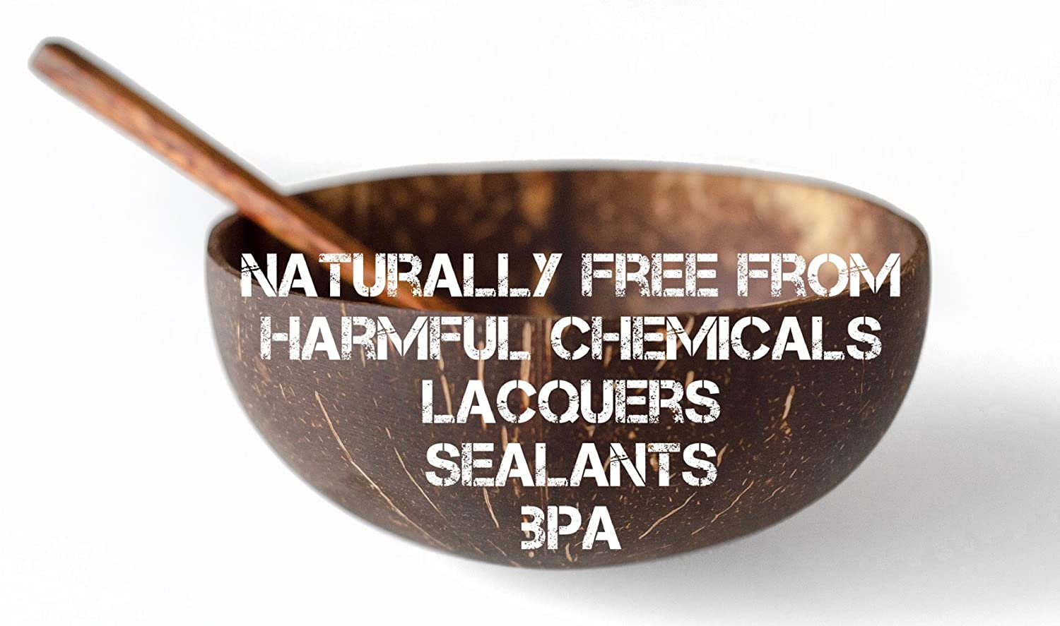 The Eco Friendly Practical and Fun Way To Eat Healthy /… Kalea Set of 2 Coconut Bowls with Spoons Real Natural Coconut Shells