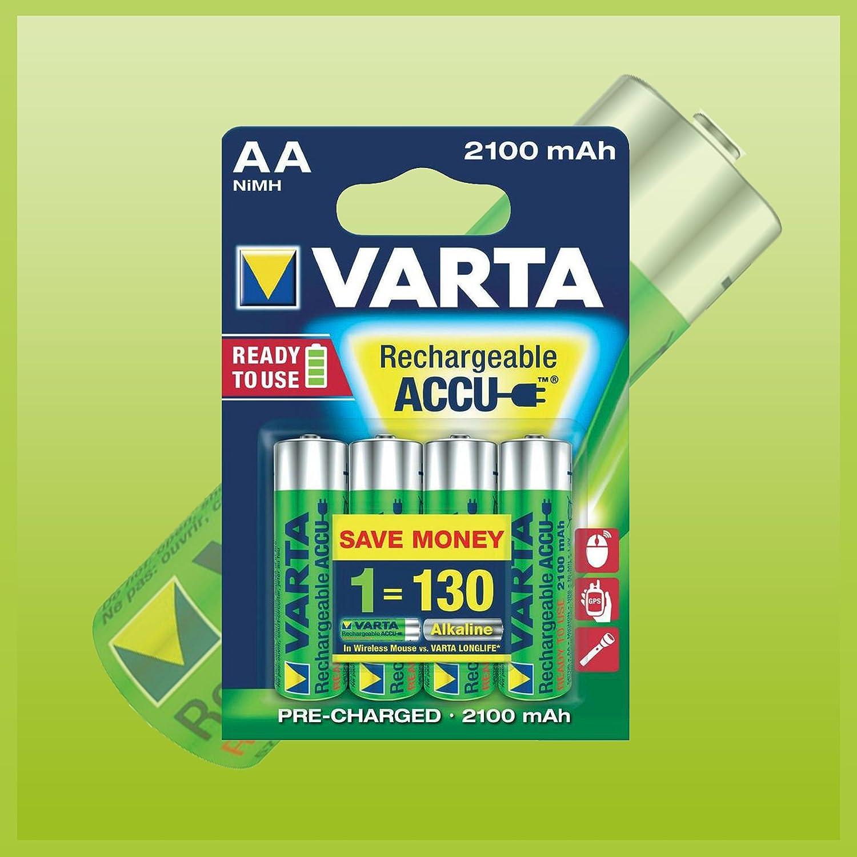 8x Varta Power Accu Ready2use Nimh Akku Aa Mignon 2100 Elektronik