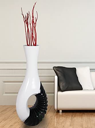 Amazon Modern Black And White Large Floor Vase 43 Inch Home