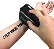 Prinker S Temporary Tattoo Device Package for Your Instant Custom Temporary Tattoos with Premium Cosmetic Black Ink - Compat