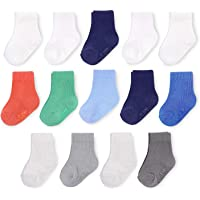 Fruit of the Loom Baby 14-Pack Grow & Fit Flex Zones Cotton Stretch Socks - Unisex, Girls, Boys