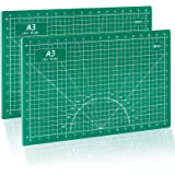 Self Healing Cutting Mat 12x18 for Sewing 2 Packs Double Sided 5-Ply PVC Non-Slip Cutting Mats for Crafts,Quilting,Fabric,Scr