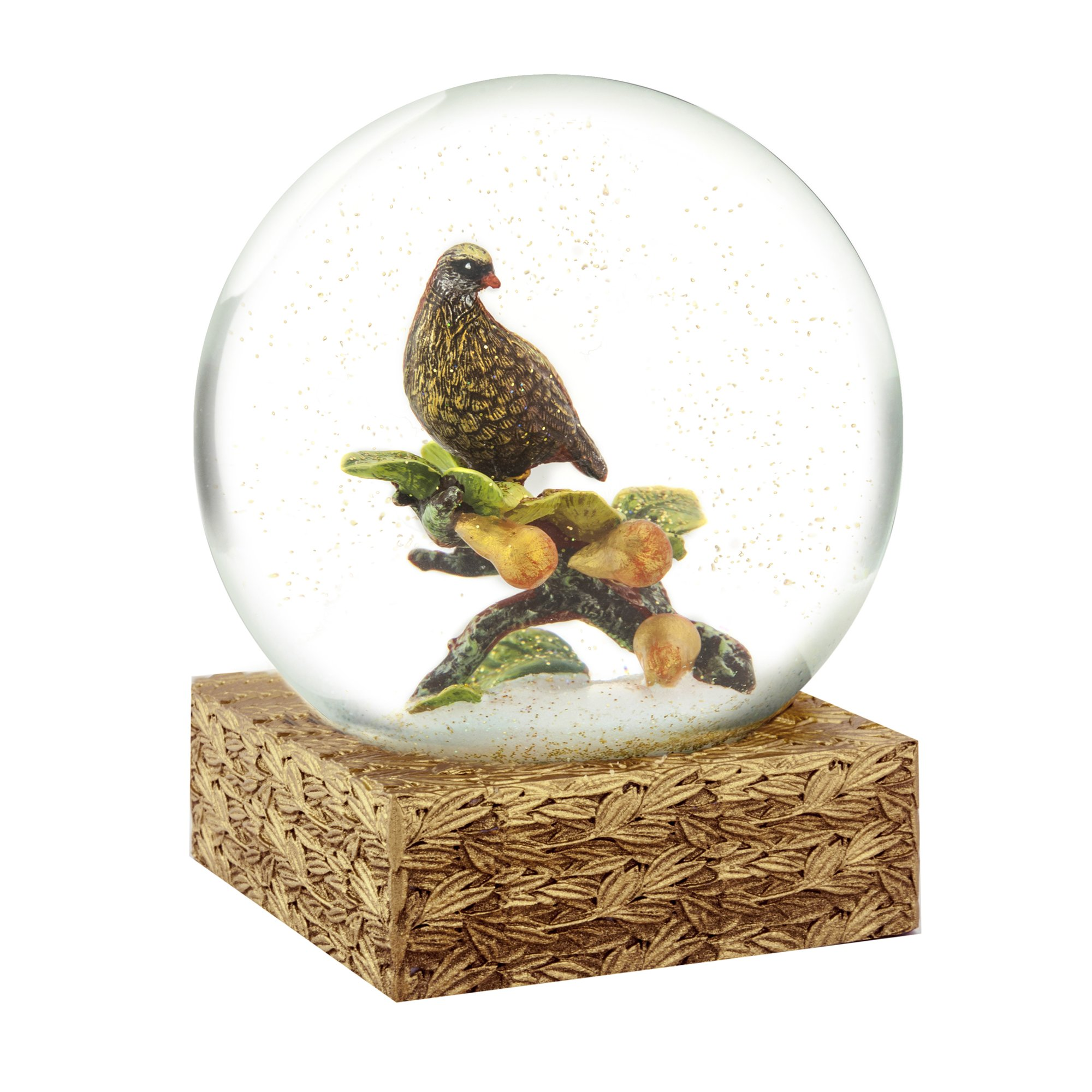 CoolSnowGlobes Partridge and Pears Snow Globe