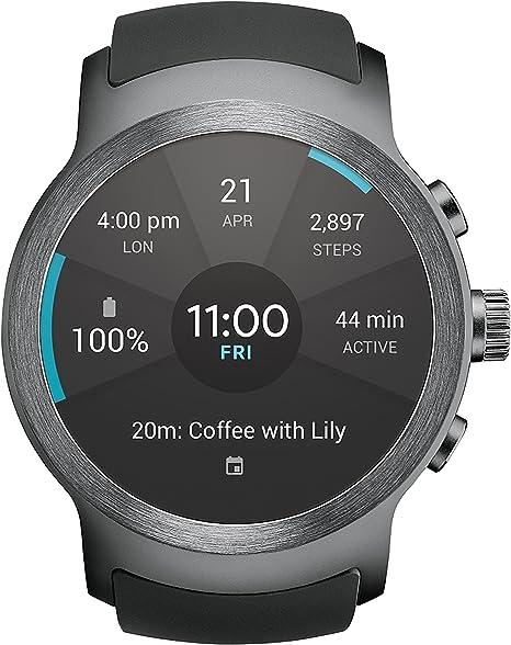 LG Watch SPORT Wi-Fi + Unlocked GSM Smartwatch w/ 1.38-inch P-OLED Display - Titan / Silver (Renewed)