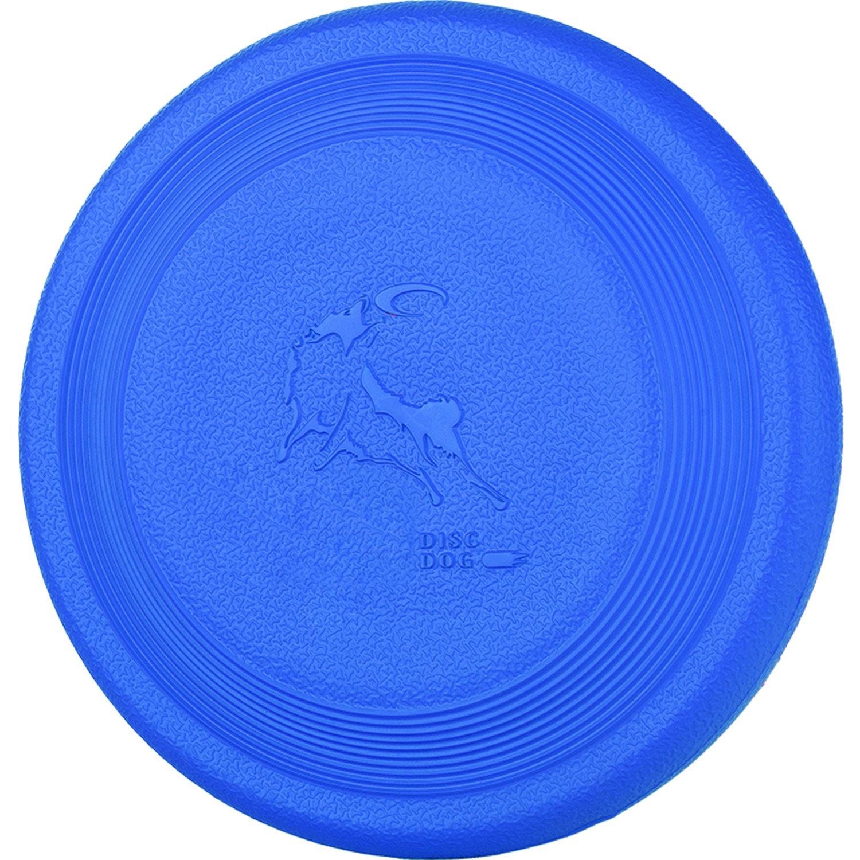 DISCDOG Bite-Resistant Jawz Dog Flying Disc Toy Tough Professional Floatable Dog Disk for Golden Retriever Husky Samoyed Malinois border collie (7-2/25 Inch, Blue)