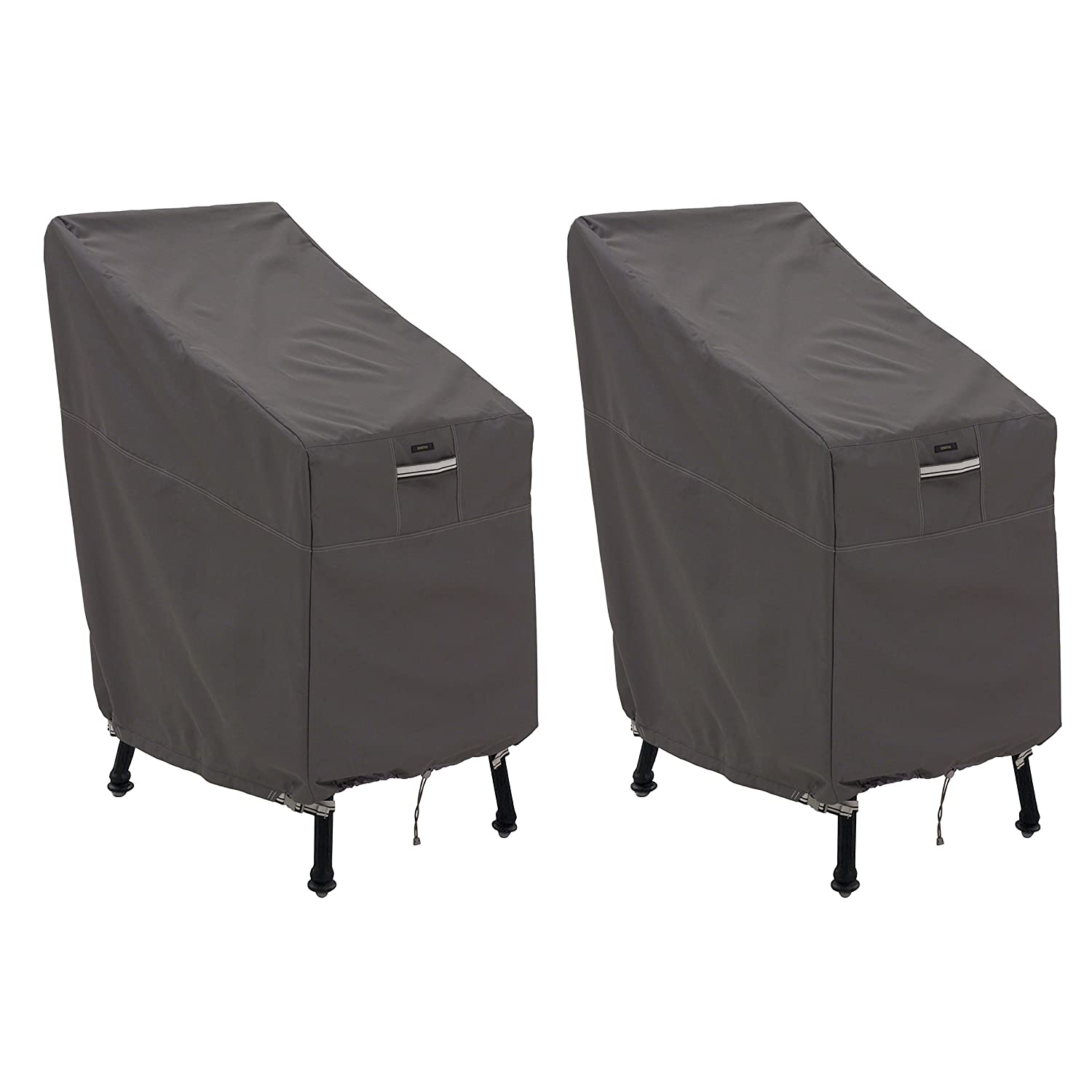 Classic Accessories Ravenna Patio Bar Chair Stool Cover, 2-Pack