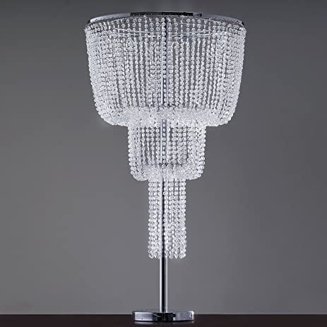 Amazon efavormart acrylic diamond tabletop chandelier efavormart acrylic diamond tabletop chandelier centerpiece stand 18quot aloadofball Images