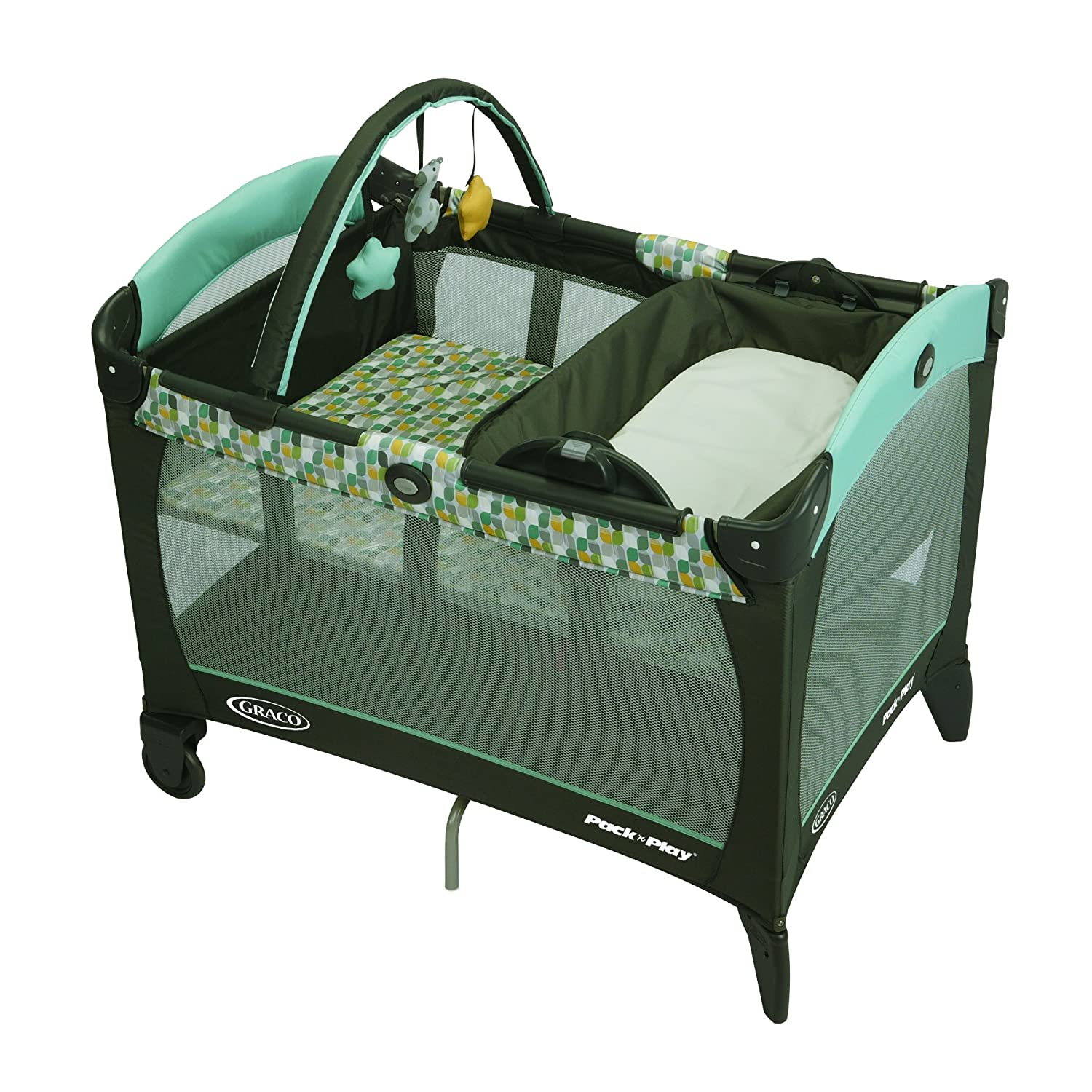 Graco Pack n' Play Playard with Reversible Napper and Changer, Meadow Menagerie 1811006