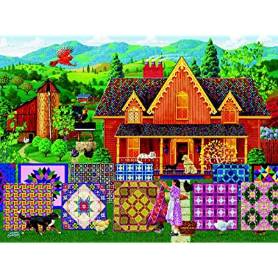 Morning Day Quilt 1000 pc Jigsaw Puzzle by SunsOut: SunsOut: Toys & Games