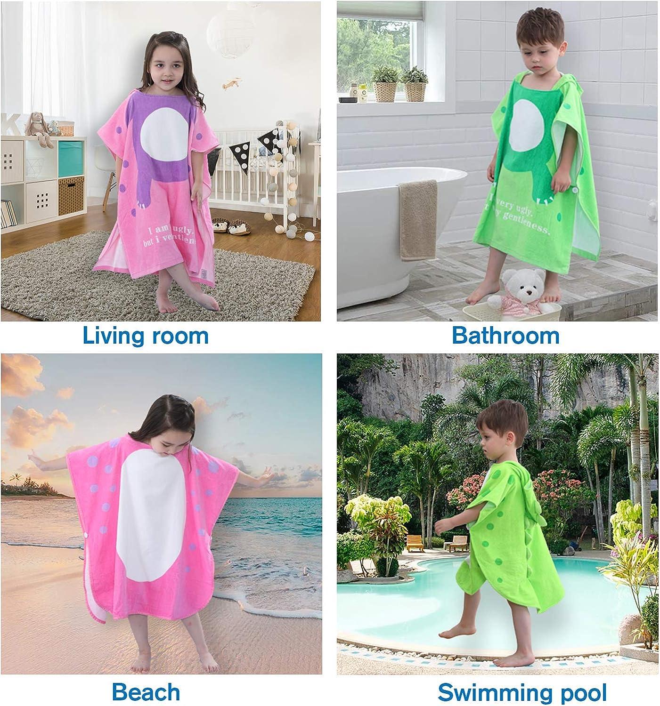 LOLANTA Kids Dinosaur Hooded Bath Towel Beach Towelling Poncho,100/% Cotton