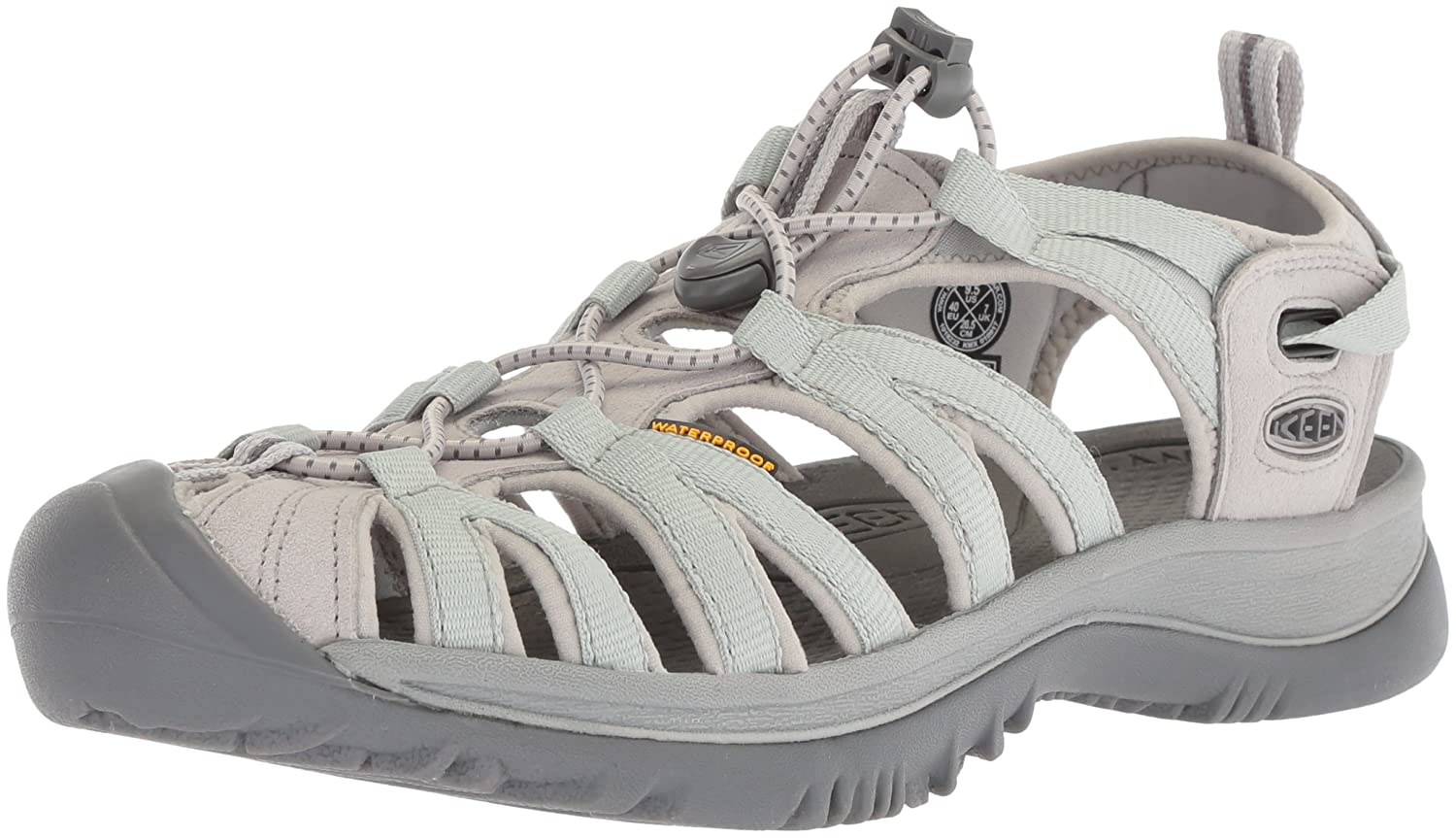 KEEN Women's Whisper-w Sandal B071CL1NKB 8.5 B(M) US|Vapor/Steel Grey