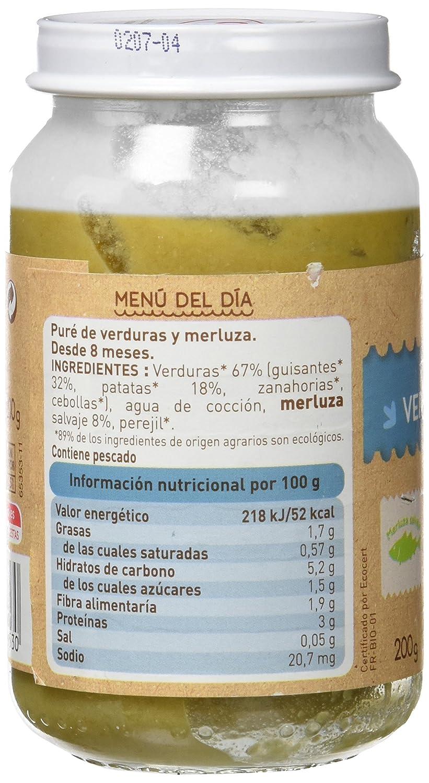 Babybio Potito de Verduras con Merluza - 200 gr: Amazon.es: Alimentación y bebidas