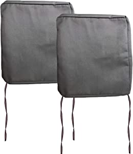FLYMEI Outdoor Seat Cushion Cover Set, Large Patio Chair Seat Covers Only, Waterproof Patio Cushion Cover (20'' X 20'' X 2'' 2Pack, Grey)