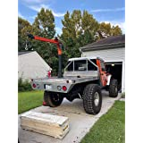 RUGCEL WINCH 1100lb Folding Truck-Mounted Crane with Wireless Electric Winch 12V, Painted Steel 1100 lb Pickup Truck Jib Cran