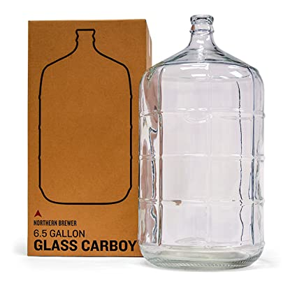 0ccded2b37 Amazon.com: Northern Brewer - 6.5 Gallons Glass Carboy Fermenter For  Fermentation Of Homebrew Beer Brewing, Wine Making, Mead And Hard Cider:  Kitchen & ...