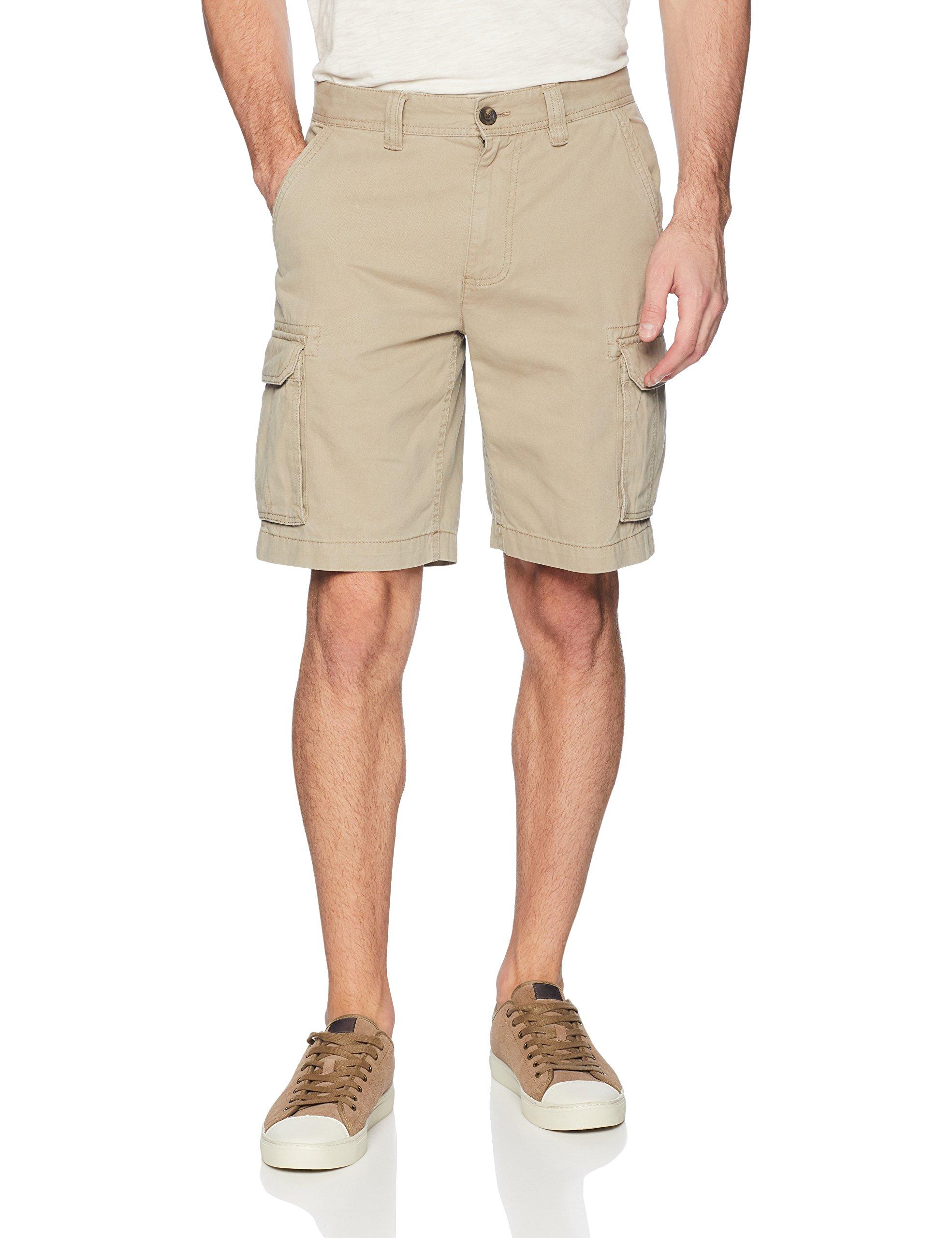 Amazon Essentials Men's Classic-Fit Cargo Short, Dark Khaki, 32