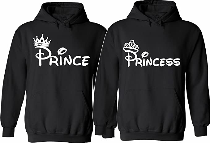 UNAMEIT Prince and Princess Hoodies Matching Couple Hoodies Valentines Day Hoodies
